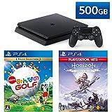 PlayStation 4 + New みんなのGOLF + Horizon Zero Dawn Complete Edition セット (ジェット・ブラック) (CUH-2200AB01)【特典】オリジナルカスタムテーマ(配信)
