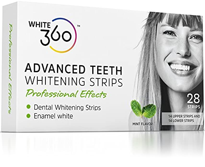 火曜日右粉砕するAdvanced Teeth Whitening Strips - Professional Strength Whitestrips 14 Day Supply by White 360 by White 360