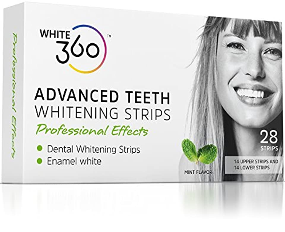 くすぐったい悩みチューインガムAdvanced Teeth Whitening Strips - Professional Strength Whitestrips 14 Day Supply by White 360 by White 360