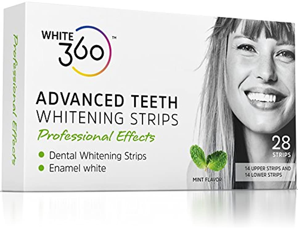 軽稼ぐ弓Advanced Teeth Whitening Strips - Professional Strength Whitestrips 14 Day Supply by White 360 by White 360