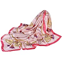 Satin Silk Scarf For Women Large Square Silk Scarves Print Wraps Head Scarf Hijab Luxury Brand
