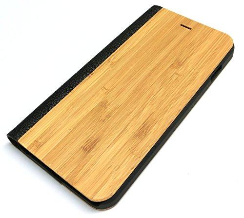 iPhone6/6s Plus ウッドフリップケース(木製板...