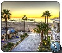 場所Hermosa Beachパーソナライズされた長方形のマウスパッドファッション、印刷された滑り止めゴム快適なカスタマイズされたコンピューターマウスパッドファッションマウスマットマウスパッドファッション