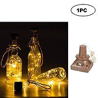 LIXADA ソーラーストリングライト 2M 省エネ ワインボトル銅線ランプ 雰囲気作り 庭/ティオ/庭/クリスマス/結婚式/パーティー