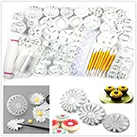Yakamoz Cake Decration Tool Kit Fondant Cake Cookie Cutter Mold Sugarcraft Icing Decorating Flower Modelling Tools (21 Sets / 68pcs) by Yakamoz