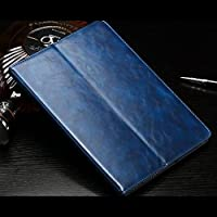 AL iPadケース タブレット カバー iPad mini 4 ラグジュアリー PUレザー 保護カード ホルダー 7.9インチ ブルー AL-AA-3572-BL