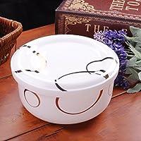 カバーが付いている陶磁器の骨の中国ボール、即席めん類のボールの米丼/スープボール/サラダボール、等。 (Color : C)