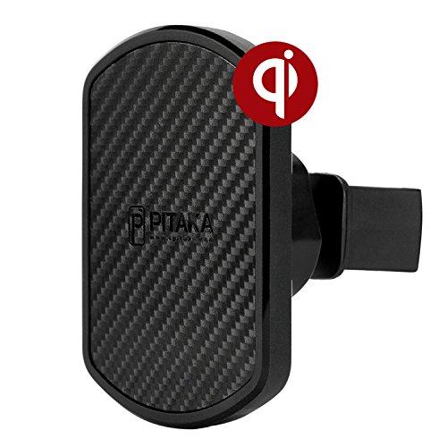 「PITAKA 」 PITAKA Magcaseに専用 車載ホルダー ワイヤレス充電対応 360°回転 [ エアコン 吹き出し口 Magmount Qi]