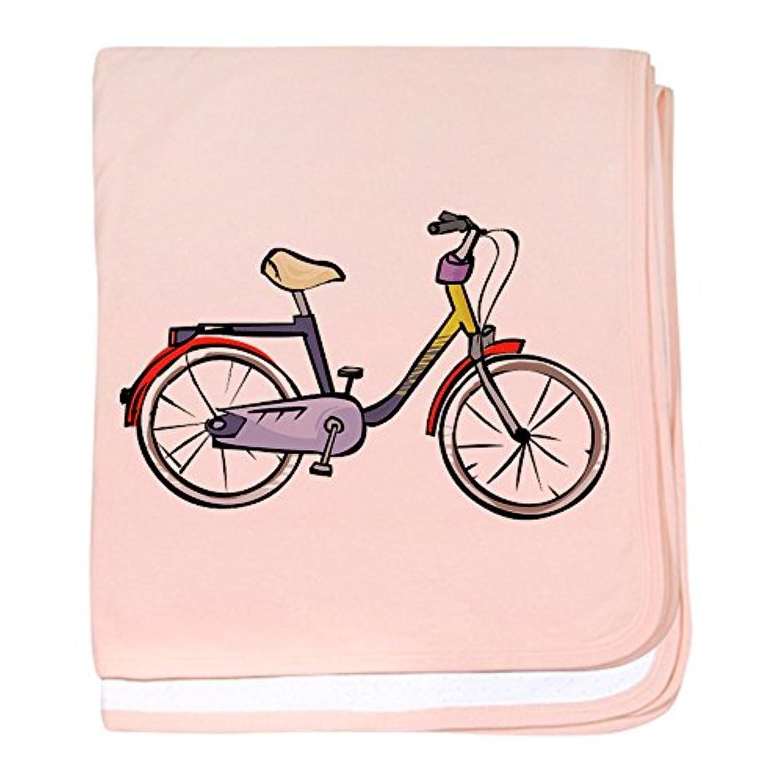 CafePress – Bike – スーパーソフトベビー毛布、新生児おくるみ ピンク 06863491646832E