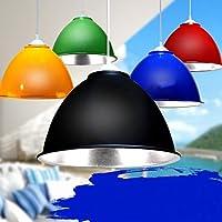 無料配送EMSと鉱山ランプのランプスーパーマーケットランプ赤黒の青の果物と野菜のペンダントライトFG672 lo11 ( Size : Black d30cm )