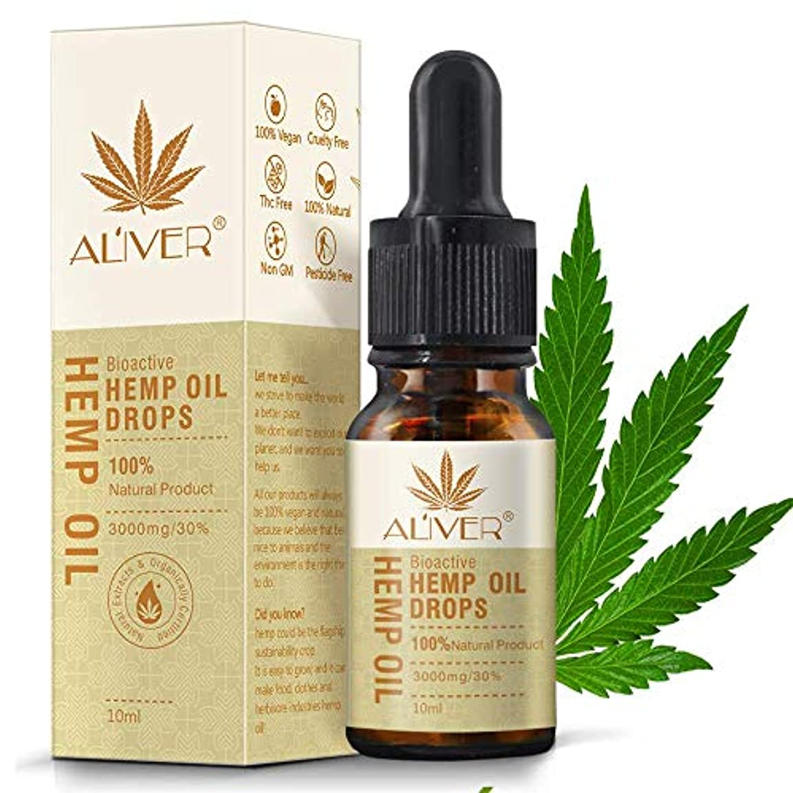 有機麻の実油 ナチュラルオイル 美容液 ストレスを和らげ 睡眠を改善します 鎮痛のための有機麻オイル睡眠補助抗ストレス不安 天然麻エキスが肌と髪に役立ちます 10ml