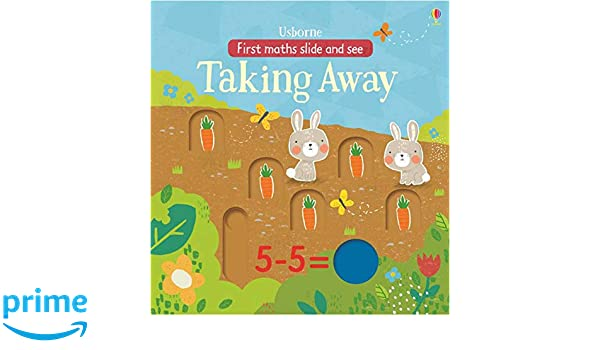 amazon slide and see taking away in the garden first maths slide