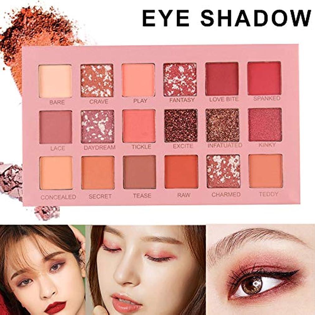 儀式充実克服するhownnery 18 colors Shining Matte Eyeshadow Pearlescent Waterproof Smog Eye Shadow Palette