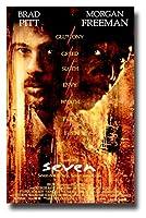 SevenムービーPromoポスター11x 17インチブラッド・ピットモーガン・フリーマンSeven Deadly Sins se7en Seven Ways to Die