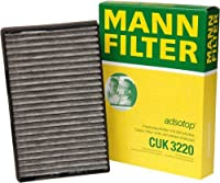 Mann-Filter CUK 3220 Cabin Filter With Activated Charcoal for select Saab models [並行輸入品]