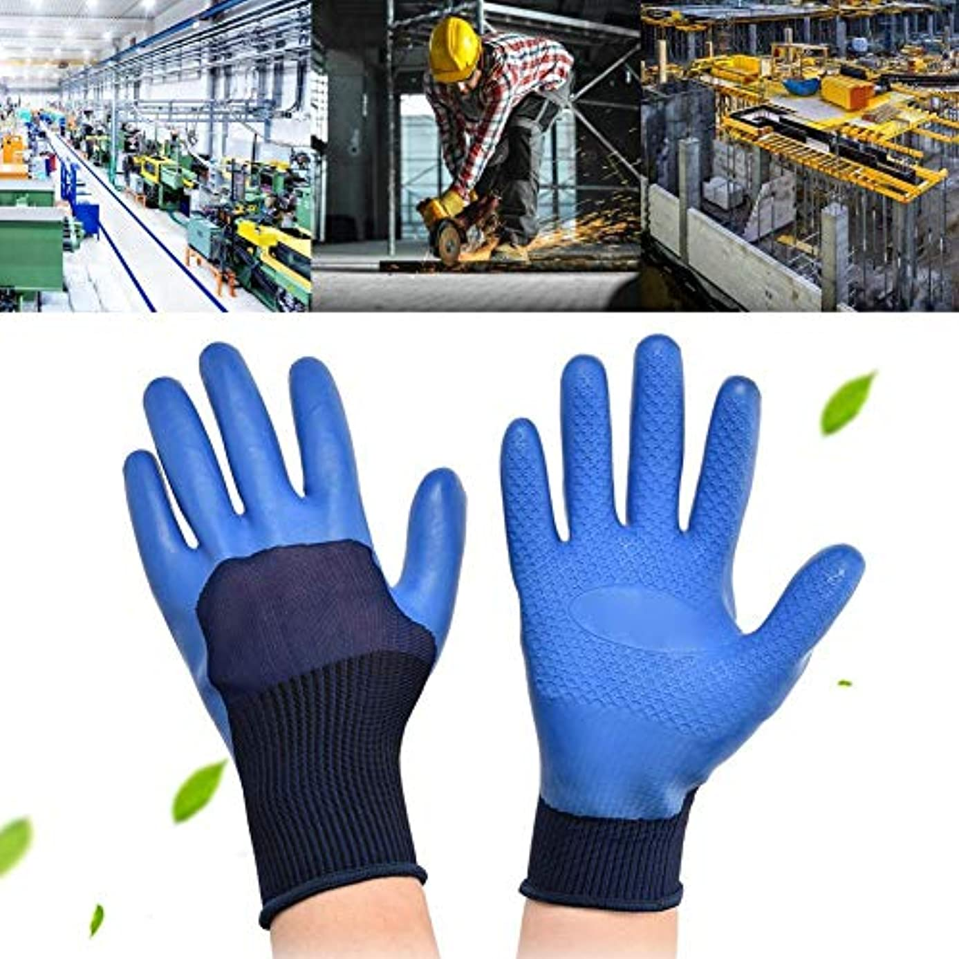 床を掃除する服を洗う使用法作業用手袋、滑り止めラテックス労働保護手袋、耐摩耗性防水安全手袋, 滑り止めラテックス労働保護作業用手袋の耐摩耗性防水安全手袋