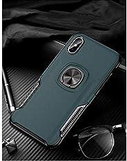 i PhoneXs maxリング式TPUケースネイビー強化ガラス&タッチペン付き362-3-2