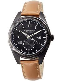 [ハンティングワールド]HUNTING WORLD 腕時計 HWM002 クォーツ ブラック文字盤 ブラウンレザー 5気圧防水 HWM002BKBR メンズ 【正規輸入品】