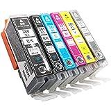 【Angelshop】 CANON (キャノン) BCI-381XL (BK C M Y GY) + 380XLBK 6色セット 全色大容量 互換インク 残量表示機能付 Angelshopオリジナル 対応機種:TS8230, TS8130