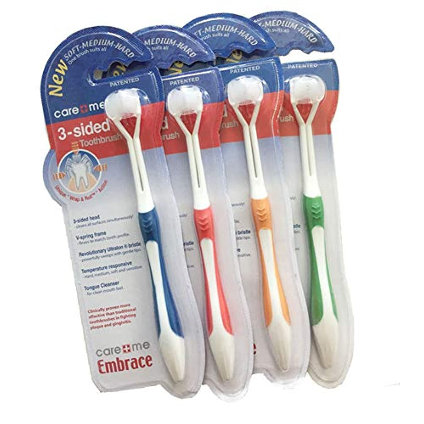 ひらめき提供するおんどり歯ブラシ FidgetFidget 大人の子供の歯のブラシ3頭の3つの側面超微細歯ブラシ 子供のタイプ
