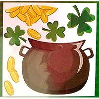 Lucky Irish Pot Oゴールドコメツブツメクサパズルマグネット冷蔵庫車ドア装飾