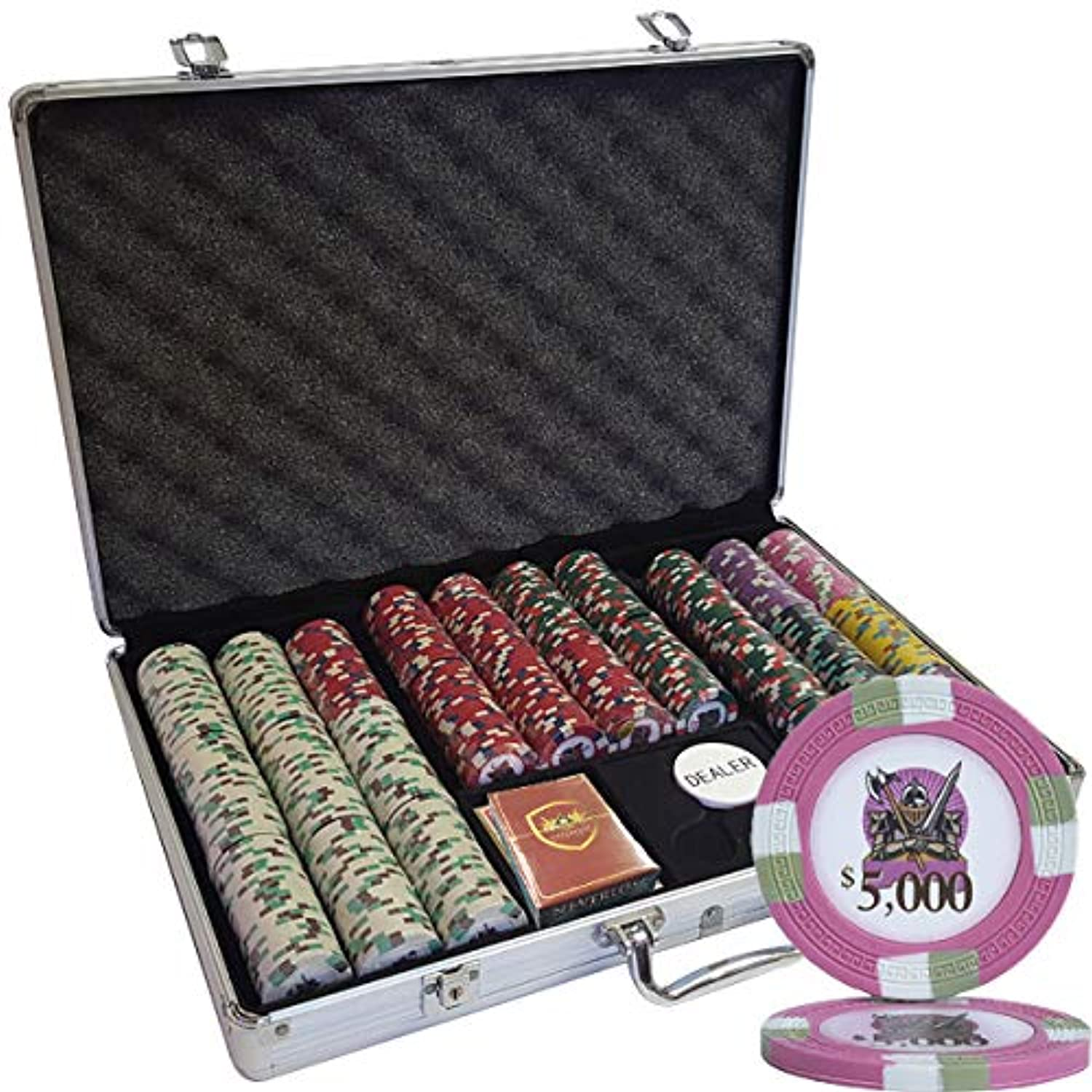 MRC 650pcs Knights Casino Poker Chipsセットwith Aluminumケースカスタム構築
