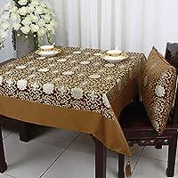 ダマスク テーブルマット,パストラル 中国風 デスクマット 汚れ防止 お手入れ簡単 に適し キッチン パーティー ウエディング ビュッフェテーブル-A-150cm(59inch)