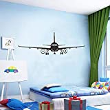 Cool Airplane Wall Decal, Removable DIY Aircraft Wall Sticker, Airplane Art Mural Removable Airliner Wallpaper for Baby Nurse