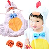 Lollypops!!! にわとり 着ぐるみ セット 帽子&足付き < 新生児 ~ 0歳1歳 記念写真用 > 【 おひるねアート / イースター】 [並行輸入品] (¥ 1,300)