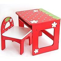 マザーガーデン Mother garden 野いちご 子供 机 椅子 おえかき デスク セット 〔机&椅子〕 赤305-74078