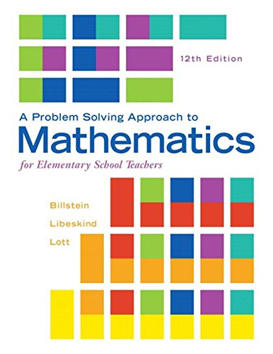 Download A Problem Solving Approach to Mathematics for Elementary School Teachers (12th Edition) 0321987292