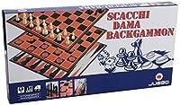 Juego - チェスドラフトバックギャモンI高品質プラスチックチェッカーボードIプロ選手用ポーンとダイスが含まれています - レッド&ブラック