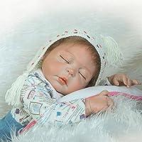 Reborn Baby Boy解剖学的に正しいフルボディシリコン新生児ビニール人形22インチLifelike子供誕生日おもちゃ磁気おしゃぶり