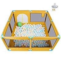ベビープレイペン ベビーシューティングフェンスオーシャンボールプール子供の屋内遊び場(オレンジ)