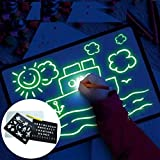 Heyeam Light up Drawing Board for Kids Light Up Drawing Board Magic Luminescent Board Glow in Dark Painting Developing Educat