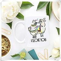 Llamaコーヒーマグ、Love、Llama愛、バレンタインデーギフト、彼女のためのギフト、かわいいCoffee Mug、愛コーヒーマグ、ガールフレンドギフト、セラミックコーヒーマグ/カップ11オンス