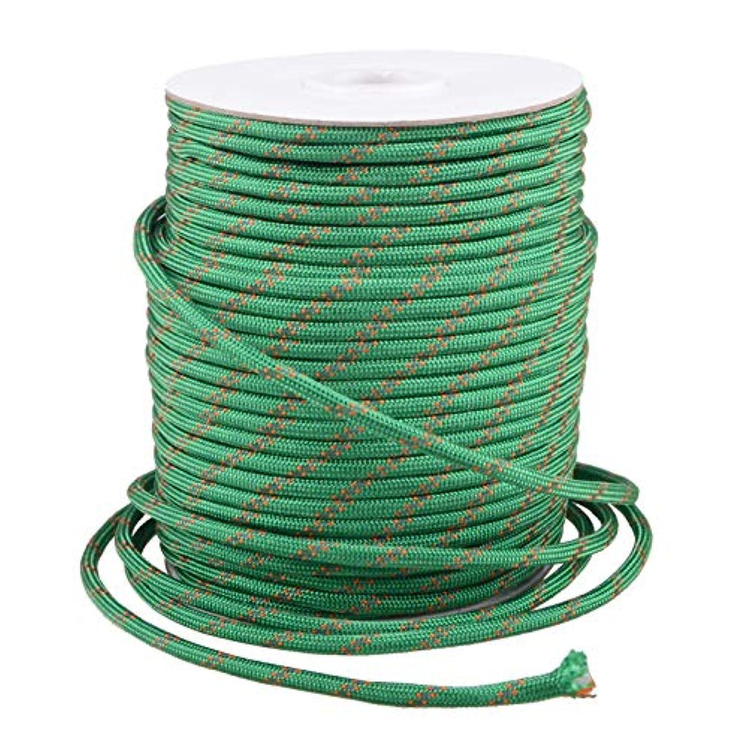 販売員意識マザーランドTRIWONDER パラコード 反射材入り 4mm 50m テント タープ ロープ ガイライン ガイロープ キャンプ サバイバル アウトドア用 パラシュートコード