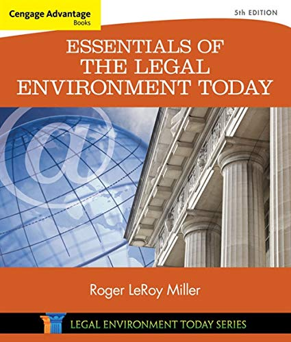 Download Essentials of the Legal Environment Today 1305262670
