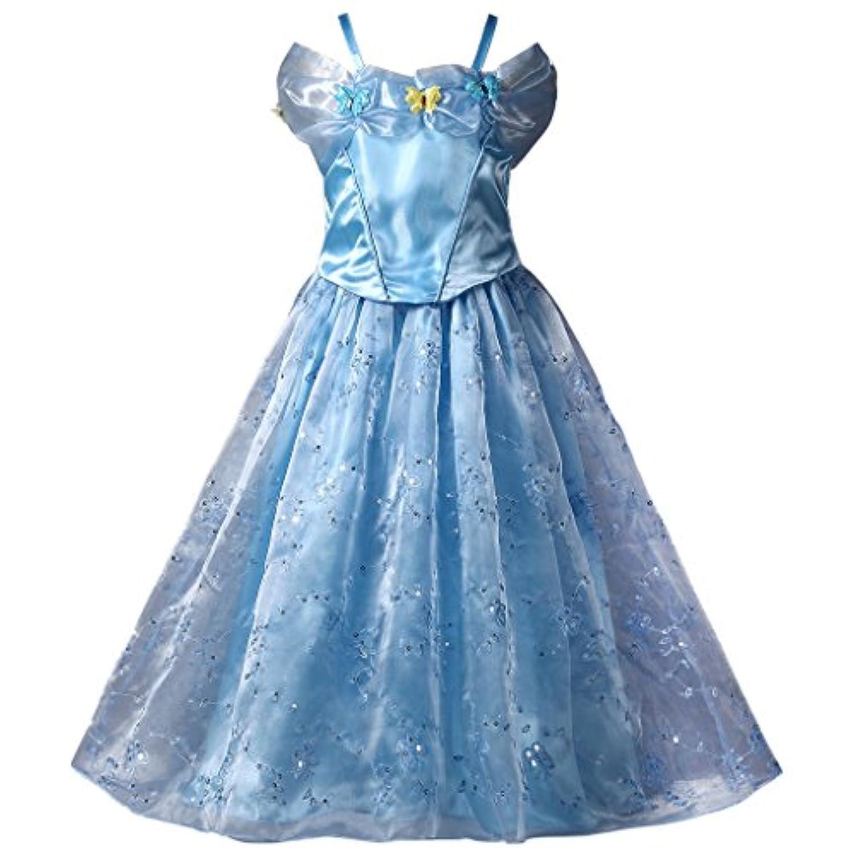 Pettigirl子供プリンセスドレス イエロードレス コスチューム ハロウィン パーティードレス