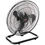 "EuropAce EPF 2183U Twin Turbo Power Floor Fan, 18"",Black"