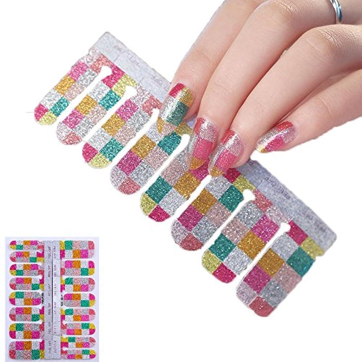 16ピース ネイルシール 貼るだけマニキュア ネイルアート ネイルラップ ネイルアクセサリー女性 爪やすり1本付き レディースプレゼント ギフト 可愛い 人気 おしゃれな上級ネイルシール (YMS1005)