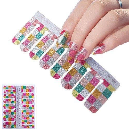 16ピース ネイルシール 貼るだけマニキュア ネイルアート ネイルラップ ネイルアクセサリー女性 爪やす...