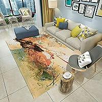 モダンなシンプルなラグ, 家の床のマット, カーペットを抽象化 リビングルームカーペット ホテル カーペット ソフト 居心地 スリップ デザイン 北欧カーペット-C 80x120cm(31x47inch)