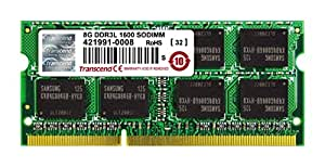 Transcend ノートPC用メモリ PC3L-12800 DDR3L 1600 8GB 1.35V (低電圧) - 1.5V 両対応 204pin SO-DIMM TS1GSK64W6H