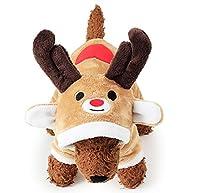 WOLLO 犬服 猫服 クリスマス トナカイ 仮装 ペット服 防寒 暖かい コスプレ ワンちゃん 着ぐるみ エンジョイクリスマス コスチューム