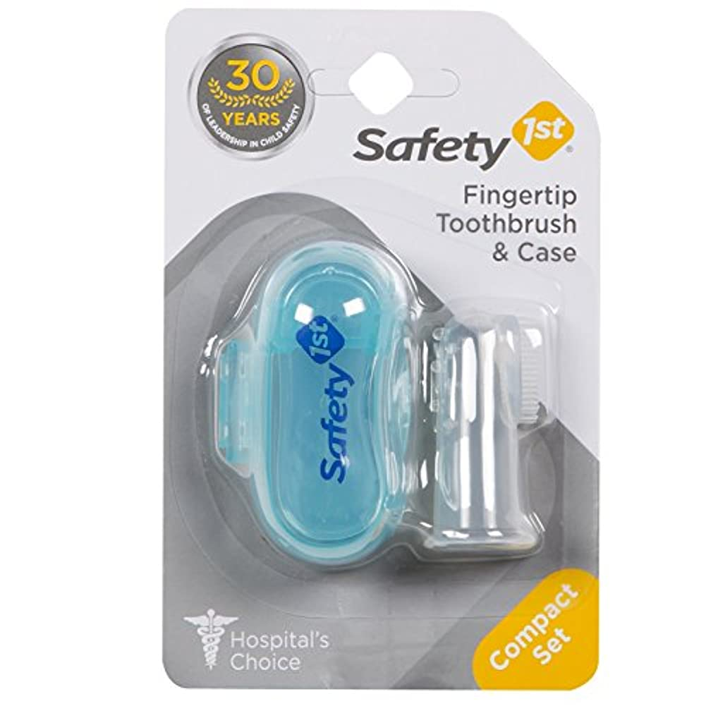 夜明け本を読む球体Safety 1st Fingertip Toothbrush and Case by Safety 1st