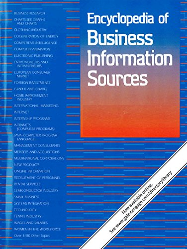 Download Encyclopedia of Business Information Sources (Encyclopedia of Buisness Information Sources) 1573025437