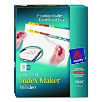 Avery Index Maker Clear Label Dividers Easy Apply Label Strip 8-Tab Multi-Color 25 Sets (11424) 【Creative Arts】 [並行輸入品]
