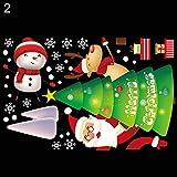 Uywgusag Christmas Sticker,Lovely Christmas Tree Santa Claus Sled Xmas Window Door Sticker Decals Decor - 2