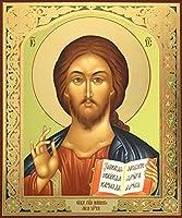 Christ the先生ロシアアイコンゴールド箔木製83/ 4インチ